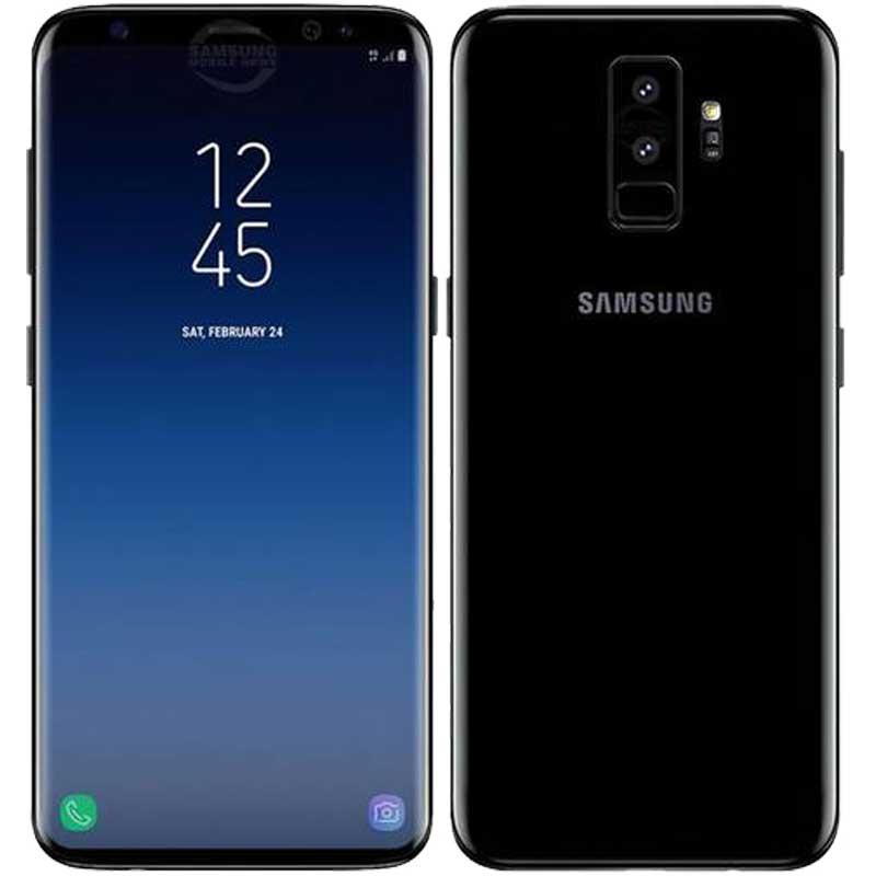 samsung galaxy s9 ds g960 64gb midnight black mobile phone. Black Bedroom Furniture Sets. Home Design Ideas
