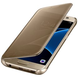 SAMSUNG GALAXY G930 S7 CLEAR VIEW COVER CASE GOLD