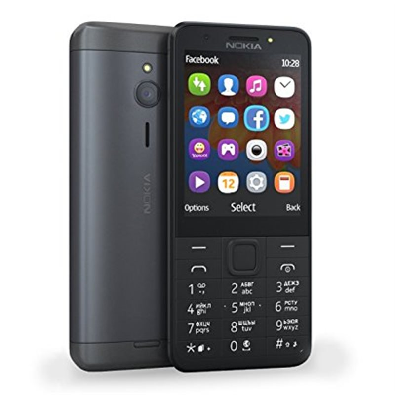 Nokia 230 dual black dark silver mobile phone megatel