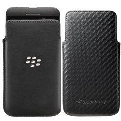 ACC-49276-201 LEATHER POCKET BLACK , Z10 BLACKBERRY