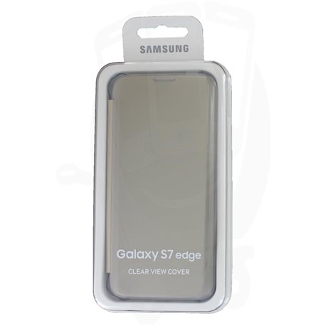 the best attitude 4c016 e33fe EF-ZG935CFEGWW Clear View Cover Samsung Galaxy S7 Edge G935 Gold ...