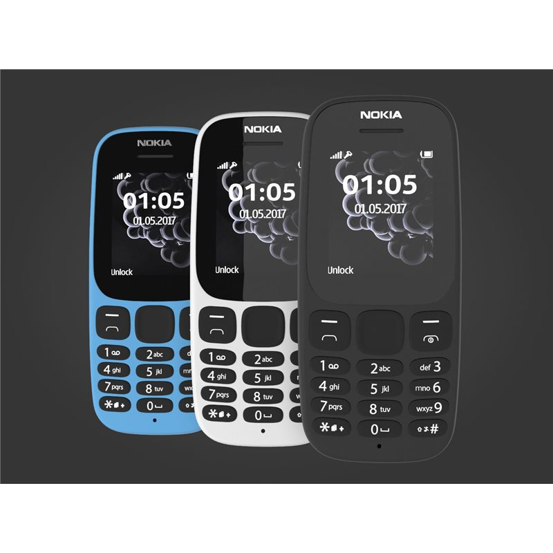 save off b90c3 e012f NOKIA 105(2017) DUAL SIM BLACK MOBILE PHONE - MegaTeL