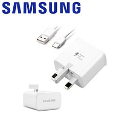 SAMSUNG FAST TRAVEL CHARGER + USB TYPE-C, UK PLUG
