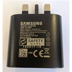 SAMSUNG TRAVEL CHARGER TYPE-C 25W BLACK FOR NOTE 10, UK PLUG, BULK