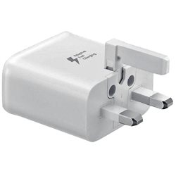 SAMSUNG FAST TRAVEL CHARGER S10, WHITE ,UK PLUG, BULK