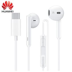 HUAWEI TYPE-C EARPHONE HEADSET WITH MIC, WHITE, BULK