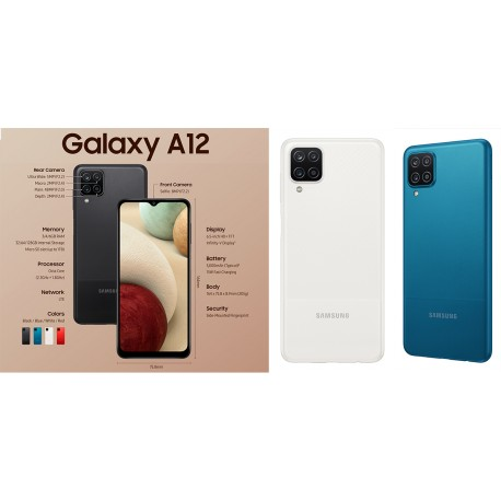 SAMSUNG GALAXY A12 4/64GB (A125) DS WHITE MOBILE PHONE