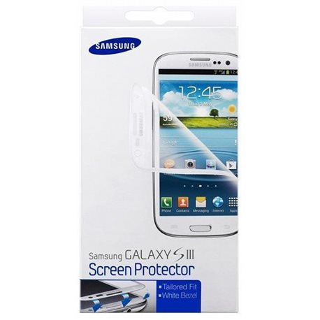 ETC-G1G6WEGSTD Screen protectors for Galaxy S III I9300 (White)