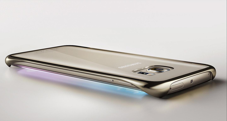 sale retailer 4df59 1a514 Samsung Clear Cover EF-QG925 for Galaxy S6 Edge, Black - MegaTeL